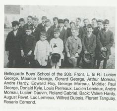 Bellegarde Boys' School in the 20s