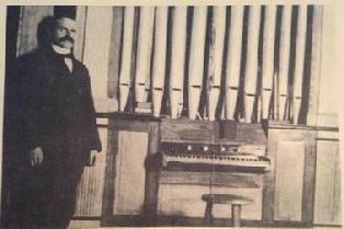 Arsène Sylvestre and his organ