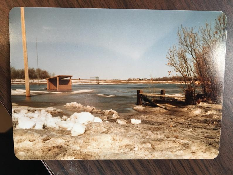 1985 thaw of creek in the picnic grounds